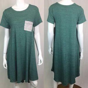 LuLaRoe Carly High Low Pocket Heather Shirt Dress